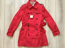 NEW 100 % authentic BURBERRY women red color trench coat Size Size S ( It-36)
