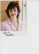 "CHERIE BLAIR personally signed 8"" X 6"" PHOTO CARD"