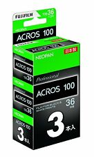 Official FUJIFILM black-and-white film Neopan 100 ACROS (35mm/36 sheets) 3pack