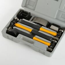 Auto Body Fiberglass Fender Repair Tool Hammer Dolly Dent Bender Auto Kit - 7pc