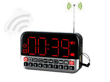 Large Screen FM Radio Receiver MP3 Speaker with Alarm Clock/USB/TF Play Function