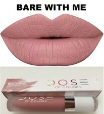 DOSE OF COLORS LIQUID MATTE LIPSTICK BARE WITH ME COLOR VEGAN COSMETIC FULL SIZE