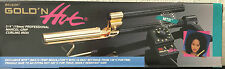 "BELSON GOLD 'N HOT 3/4"" PROFESSIONAL MARCEL-GRIP CURLING IRON-24K GOLD PLATED"