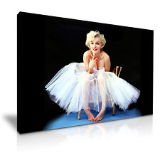 Marilyn Monroe-Ballerina Icon Canvas Wall Art Picture Print A1 Size 76cmx50cm 1