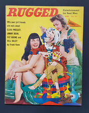 RUGGED Magazine v1 #2 SCARCE APRIL 1957 BETTIE PAGE COVER Bunny Yeager J.Dean VF