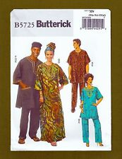 Butterick Sewing Pattern 5725~Men/Womens Tunic Caftan Pants Hat Headwrap~XL-XXXL