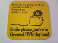 Vintage GREENALL WHITLEY  - Beermat / Coaster   2 Sided