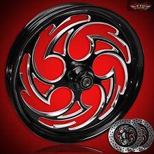 "Harley Davidson Street Glide 21"" inch Custom Front Wheel with Rotors ""Predator"""