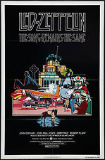THE SONG REMAINS THE SAME original 1976 one sheet movie poster LED ZEPPELIN