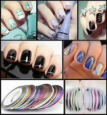 10 Color Rolls Striping Tape Line Nail Sticker Nail DIY Kit Nail Art UV G NoP6P9