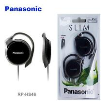 Panasonic RP-HS46 Black iPod/MP3 Ultra Slim 9.9mm Flat Clip on Earphones