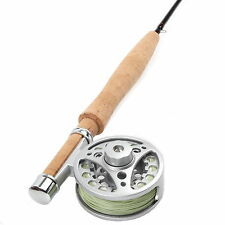 1WT Fly Rod Combo 6FT Medium Fast Fly Fishing Rod & Aluminum Fly Reel & Fly Line