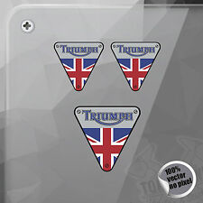 PEGATINA TRIUMPH BRITISH FLAG SHIELD VINILO VINYL STICKER DECAL AUTOCOLLANT