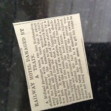 m1e ephemera 1899 article warwick hotel northampton station hit by train