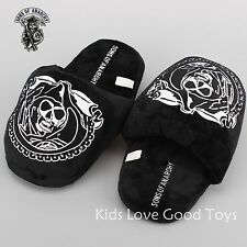 SONS OF ANARCHY Grim Reaper Plush Slipper Soft Stuffed Indoor Shoes Cute Gift