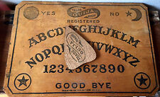 Haunted Antique Vintage Ouija Board ~c1915 William Fuld w/Graveyard Planchette