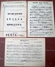 1957 LOTTO DI 3 SPARTITI PER FISARMONICA TRA CUI UNO EDIZIONI VESTA SPILAMBERTO