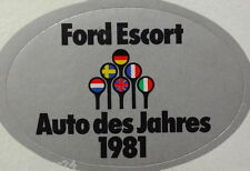 Aufkleber FORD ESCORT Auto des Jahres 1981 Youngtimer XR3i Sticker Decal