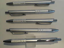 LOT OF 5 SILVER TERZETTI SLEEK BALLPOINT PEN W/ SURE GRIP-BUY MORE AND SAVE