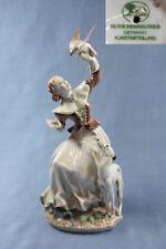 Falknerin whippet Windhund Figur Hund Porzellanfigur Hutschenreuther greyhound