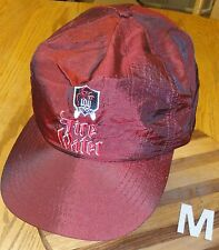 VINTAGE 100 PROOF FIRE WATER SNAPBACK HAT DEEP RED COLOR GOOD CONDITION