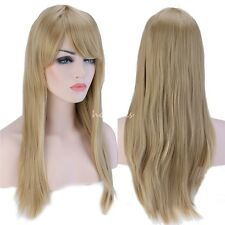 "23""  Wigs With Bangs Straight Syntehtic Full Wig for Womens Ladies Hair Costume"