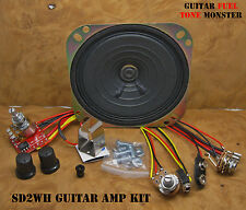 "TONE MONSTER SD-2WH Guitar Amp Amplifier KIT 2W 9V Volume Gain 4"" SPK Cigar Box"