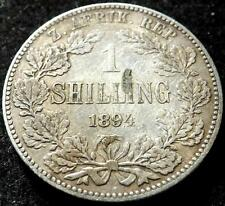 1894 ZAR South Africa Silver Shilling Coin Collectable Date