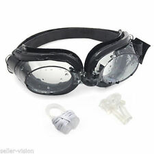 Swimming  Goggles with Anti Fog Misting Inc Ear plugs & Nose Clip Goggle Swim