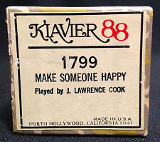 Klavier 88 Word Player Piano Roll 1799, Make Someone Happy,  J Lawrence Cook '61