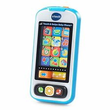 NEW VTech Touch and Swipe Baby Phone Light Smartphone Educational Kids Toy Blue