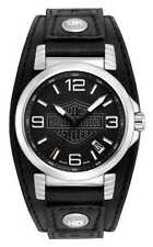 Harley-Davidson Men's Bulova Ghost Bar & Shield Wrist Watch. 76B163