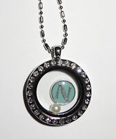 FREE Nerium Inspired Charm med round cz locket fits Origami Owl Floating Charm