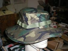 US ARMY WOODLAND  BDU CAMO BOONIE HAT - NEW PRODUCTION - SIZE 7 1/4 - US MADE.
