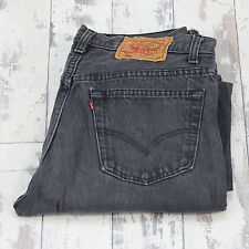 Mens Vintage Grey Levi's 501 Jeans Used Preloved Distressed W30 L30 (B59)