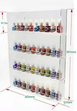 4 X 8 bottle Nail Polish Clear Acrylic Wall Display Rack. NEXT DAY DELIVERY!