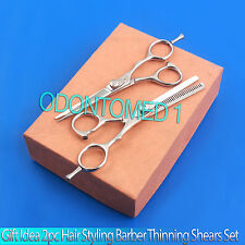 Gift Idea 2pc Hair Styling Barber Thinning Shears Set In Orange Box