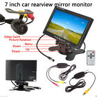 "Wireless 7"" TFT LCD Rear View Car Monitor Night Vision Parking Backup Camera Kit"