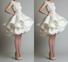 2015 New white ivory Short Bridal Gown Wedding Dress Custom Size 4-6-8-10-12-14+