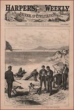 Rifle Match, American Team, Dublin, Ireland, antique engraving print 1875