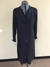 1920-1929 (20s) Women's Vintage Black Gown with Lace Medium