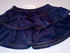 Baby girl blue jean denim skirt attached diaper cover new with tags 3-12 months