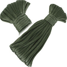 50ft/15m Olive Green 3mm Paracord Braided Nylon Rope Cord Camping Survival