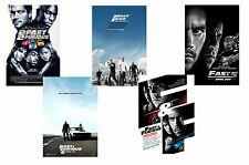 FAST AND FURIOUS FILMS - SET OF 5 - A4 FILM POSTER PRINTS # 1