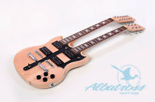 DIY Mahogany BoltOn Double Neck 12 String and Electric Guitar Kit Albatross G063
