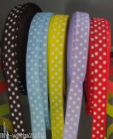 Polka Dot Grosgrain Ribbon 10mm Spotty Ribbon Red Lilac Yellow Blue Brown DIY