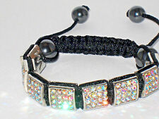 Royal Creation Rhinestone Square Discoball Bracelet