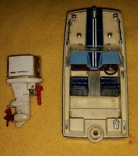 5656- VTG 1968 Ideal Motorific Blue Devil Speed Boat Chrysler Outboard Motor