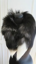 Real Fur, Natural silver fox fur Stole, Wrap, Boa, Shawl,Collar, Wedding, 90cm