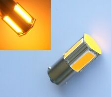 2pcs Yellow/Amber 1156 P21W Ba15s 4 COB LED Turn Signal Rear Light Car Bulb Lamp